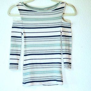 We the Free People Cold Shoulder Striped XS
